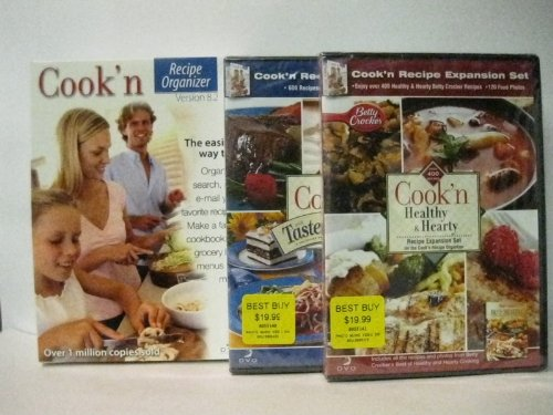 Cook'n Recipe Organizer 9 (8.2 w/free upgrade to 9) W/2 FREE Expansion sets---Windows 7 /Vista / XP / Me / 98 -