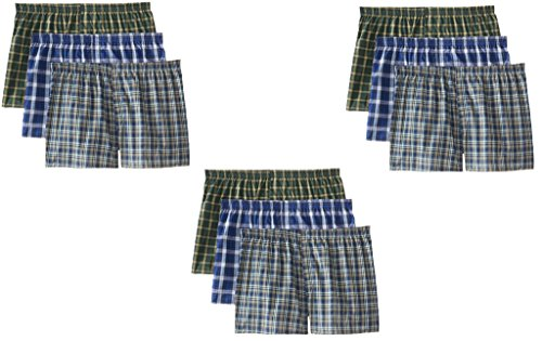 Fruit of the Loom Men's 5-Pack Plaid Boxer Shorts Boxers Underwear - 2X-Large