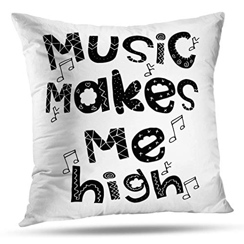 (Alricc Music High Inspirational Fashion Greeting Festival Banners Art Banner Decorative Throw Pillows Cushion Cover for Bedroom Sofa Living Room 20X20)