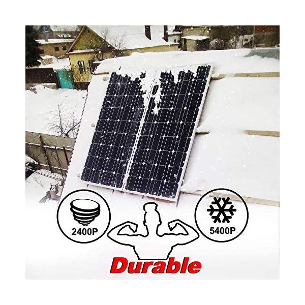 51GKqNGbP2L DOKIO 100W Solarpanel TÜV-Zulassung Monokristallin(Hohe Leistung) - Solarmodul 100 Watt FüR 12v Kfz Batterie,AGM…