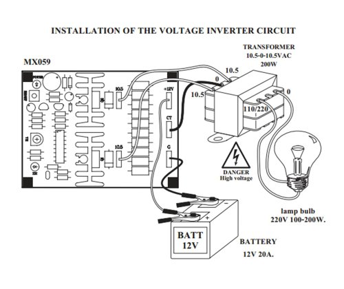 12V Dc To Ac Inverter Circuit Diagram | Dc 12v To Ac 230v Power Inverter Circuits Wiring Diagram