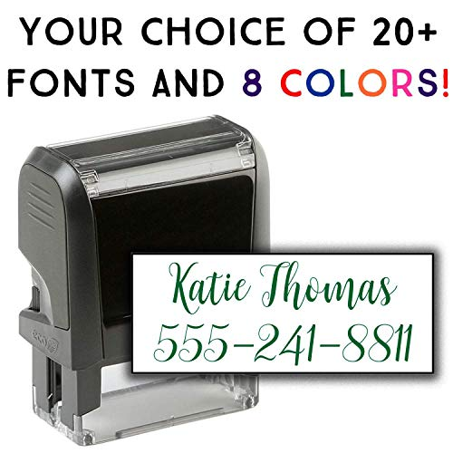 (Custom Address Stamp - 2 Line Address Stamp - 20 Font Options - Self-Inking Address Stamp (2 Line Stamp))