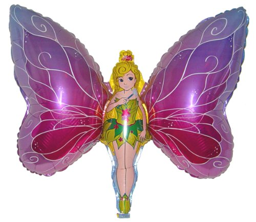 """Award Winning 38 FAIRY PRINCESS BUTTERFLY Anti-Gravity Balloons Hover & Drift in Mid-Air with""""NO STRINGS ATTACHED""""! For All Ages! Includes Weights for Easy Height Control. The""""HIT of the PARTY!"""""""