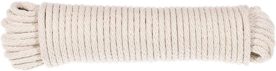 Drying Rope All-Purpose Laundry Cord West Coast Paracord 3//16 Thickness Evandale Cotton Clothesline 50 Ft Hank