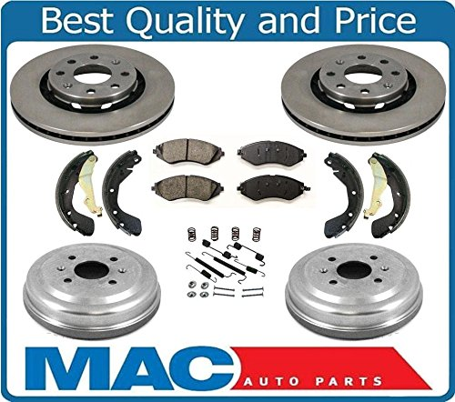 For 2017-2019 Ford,Lincoln,Escape,MKC Front Rear Brake Rotors+Ceramic Pads