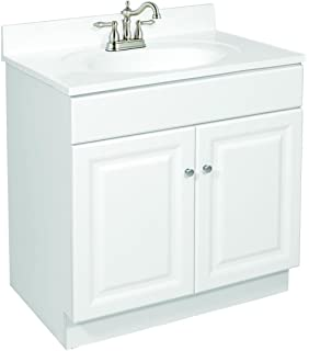 Charmant Design House 531749 Wyndham Ready To Assemble 2 Door Vanity, White, 30