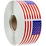 "500 American Flag Stickers (Perforated)/2.125"" x 1.25"" USA Patriotic Stickers"