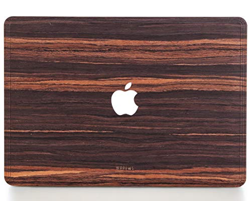 - WOODWE Real Wood MacBook Skin for Mac Pro 15 inch Touch Bar Edition | Model: A1707/A1990; Late 2016 - Mid 2018 | Natural Ebony | TOP&Bottom
