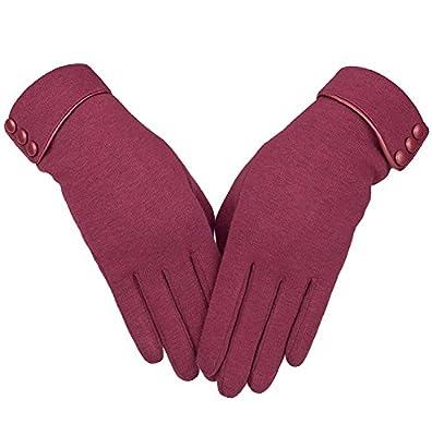 Womens Touch Screen Phone Fleece Windproof Winter Warm Wear Cold Weather Gloves …