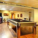 BEER BORDER for YOUR Man Cave Decor - Beer Border - Unique Removable Vinyl Wall Decal for Your Man Cave or Bar - 16 Feet Long - Black - Katazoom Wall Decals