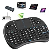 Rii i8 2.4GHz Wirelesss Touchpad Keyboard Mouse for PC, Android TV Box, Black