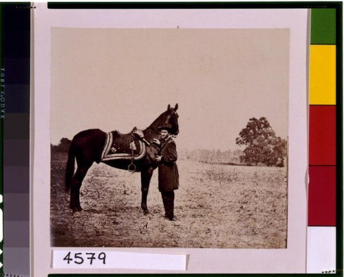 1864 Photo Ulysses S. Grant, full-length portrait, facing left, standing alongside his war horse,