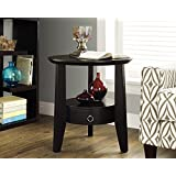 Monarch Specialties I 2491 Cappuccino Accent Table with 1 Drawer, 23""