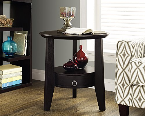 Monarch Accent Table Cappuccino w/Drawer