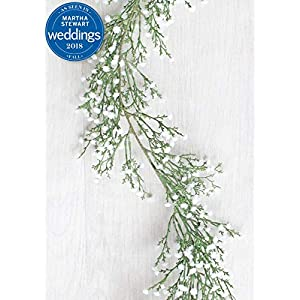 Afloral Plastic Outdoor Baby's Breath Garland in White - 6' Long 21