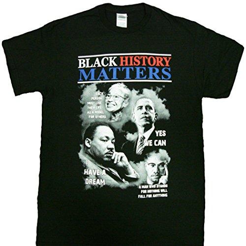 Black History Month T-shirt ~ Rosa Martin Obama (X-Large, Black)