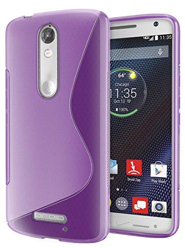 Droid Turbo 2 Case, Cimo [Wave] Premium Slim TPU Flexible Soft Case for Motorola Verizon Droid Turbo 2 / Moto X Force (2015) - Purple