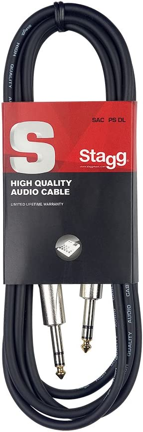 Stagg SAC1PS DL - Cable jack (simétrico, 1 m), color negro