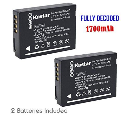 Kastar Battery (2-Pack) for Panasonic DMW-BCG10, DMW-BCG1...