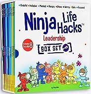 Ninja Life Hacks Leadership 8 Book Box Set (Books: Focused, Calm, Brave, Masked, Inclusive, Grateful, Hangry,