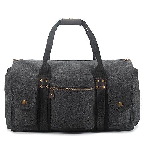 Ybriefbag Unisex Canvas Traveling Bag, Retro, Large Capacity Traveling Bag, Canvas Hand-held Men's Traveling Bag. Vacation by Ybriefbag (Image #3)
