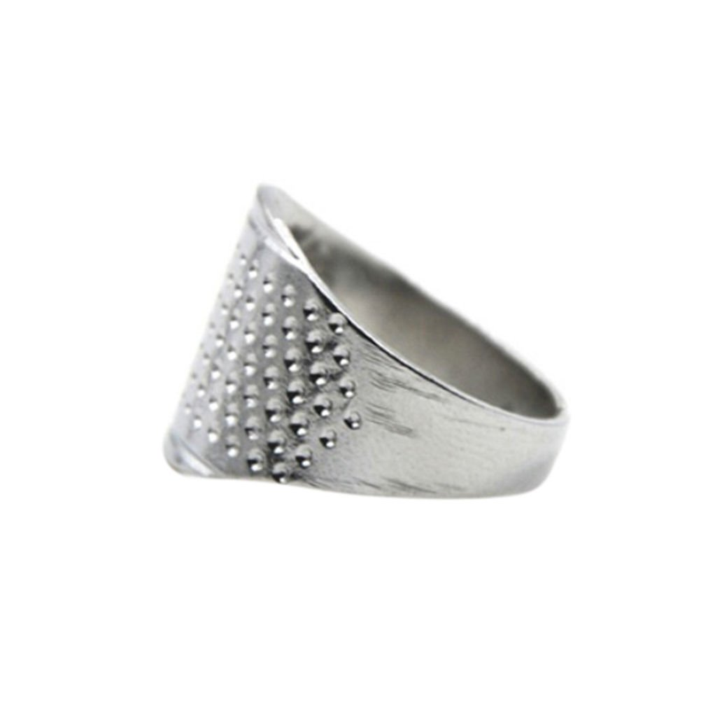 LIGONG 5 Metal Adjustable Thimble Sewing Quilting Leather Craft Finger Protector