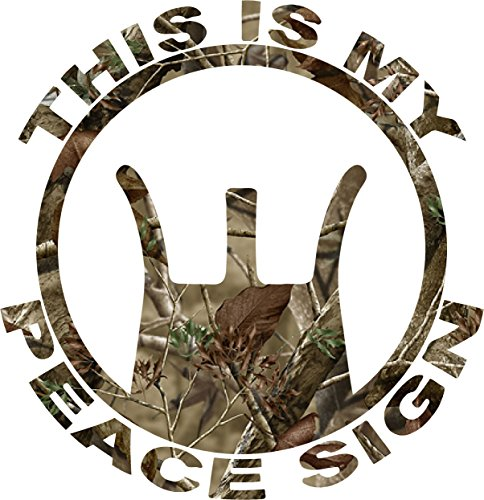 Camo This Is My Peace Sign Sticker