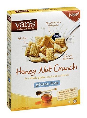Van's Natural Foods Five Whole Grain Cereal Honey Nut Crunch 11 OZ (Pack of 18)