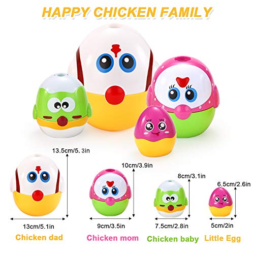 VATOS Nesting Easter Plastic Eggs Toy, Eggs Stacking Toy, Stacker Toys for 18 Months+ Baby Infant Toddler, Educational Toys for 1.5+ Years old Girl and Boys, Cute Chicken Family Style Baby Toddler Toy by VATOS (Image #7)