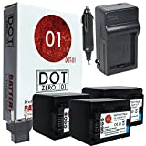 DOT-01 3X Brand Canon HF R800 Batteries and Charger for Canon HF R800 Camcorder and Canon HFR800 Battery and Charger Bundle for Canon BP718 BP-718