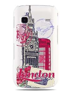 "GRÜV Premium Case - ""London Big Ben & Phone Booth Pop Art"" Design - Best Quality Designer Print on White Hard Cover - for Samsung Galaxy Gio S5660"