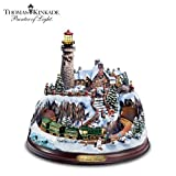 Thomas Kinkade A Seaside Christmas Figurine by Hawthorne Village