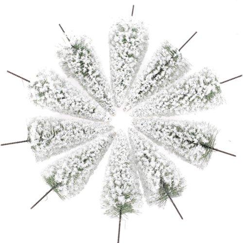 IPOTCH 10x Scala 1:100 Modelli di Albero Mini Cedro Bianco 10 cm per Ferrovia Modello Design Layout