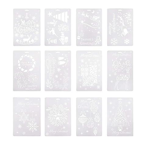 Schablonen Set Malerei Schablonen Skala DIY Blumen Zeichenschablonen