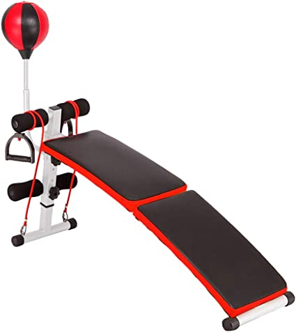 Ultra-Compact Multi-Purpose 8-in-1 Training Weightlifting Bed 17 Kinds of Possibilities of Intelligent Locking System Height-Adjustable feet,Black