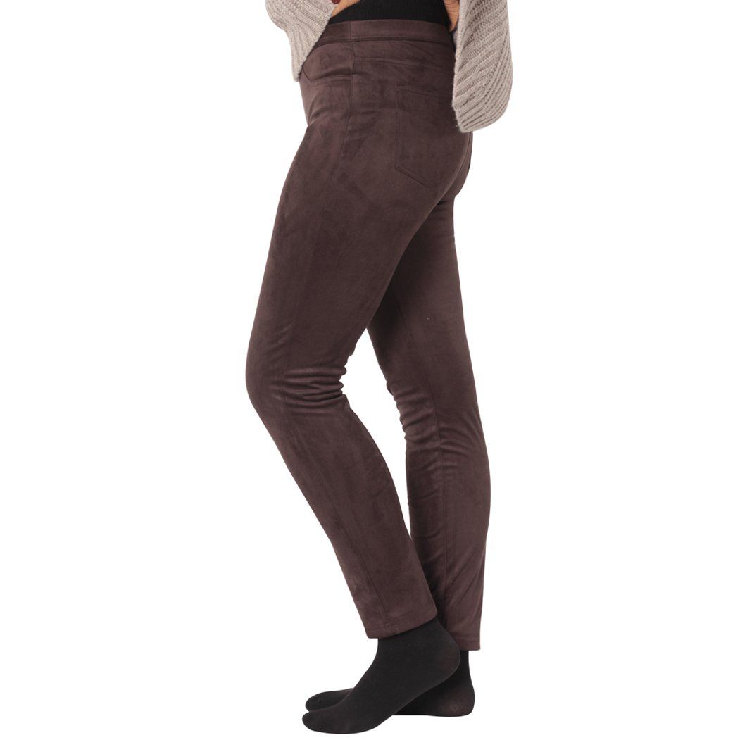 KELLY KLARK Slimming Ankle Pants, Women's Ankle Legging Dress Pants, Brown, Medium