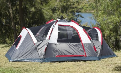 Amazon.com  Lightspeed Outdoors Ample 6-Person Instant Tent Gray  Family Tents  Sports u0026 Outdoors & Amazon.com : Lightspeed Outdoors Ample 6-Person Instant Tent Gray ...