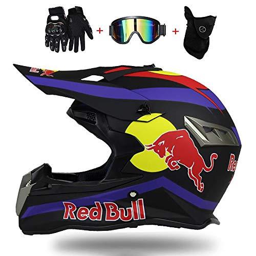 Fullface Helm,Motorradhelm Fahrradhelm ABS DOT ECE-Zertifizierung Mehrere EntlüFtungsöFfnungen Schnellverschluss…