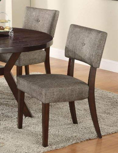 ACME 16252 Set of 2 Drake Espresso Side Chair, 36-Inch