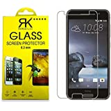 Rkmobiles Htc One A9 Premium Tempered Glass, 9H Hardness Ultra Clear, Anti-Scratch, Anti-Fingerprints + Free Cleaning Kit Inside