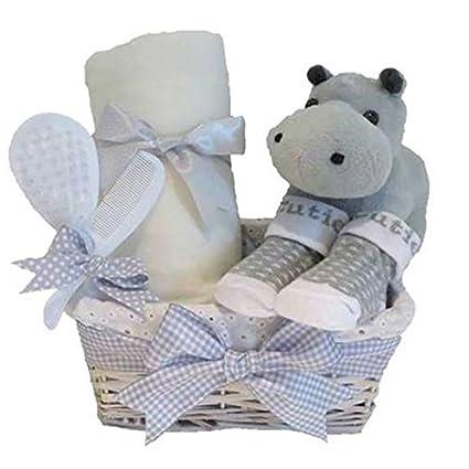 Señor hipopótamo Unisex gris bebé cesta/Regalo bebé recién nacido ...