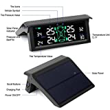 Tire Pressure Monitoring System TPMS With 4 Wireless Externa Bluetooth Sensor Solar Energy APP Support Android and Iphone