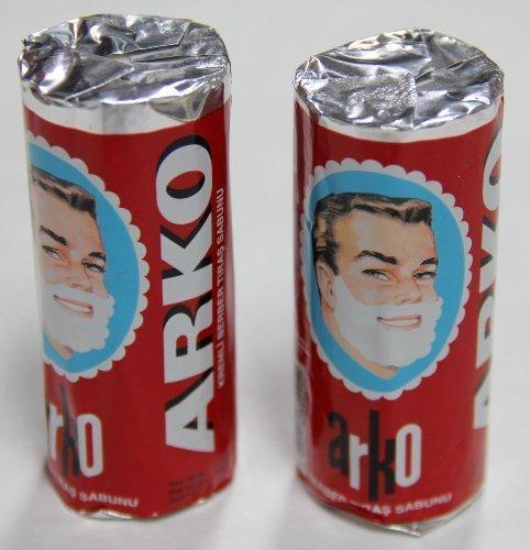 (Arko Shaving Soap Stick, White, Pack of 2, 75g each)