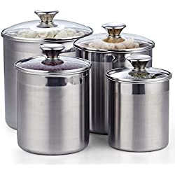 Cooks Standard 02553 4-Piece Canister Set, Stainless Steel