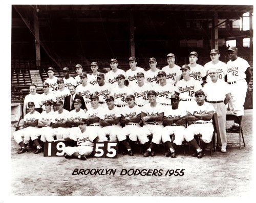 - 1955 Vintage Brooklyn Dodgers 8x10 Team Photo - Jackie Robinson - Mint Condition