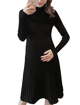 5b50bf2d6c8 TAAMBAB Look à la Mode Étendue Robe de Maternité Femmes - Manche Longue  Ruché Vêtements Enceintes