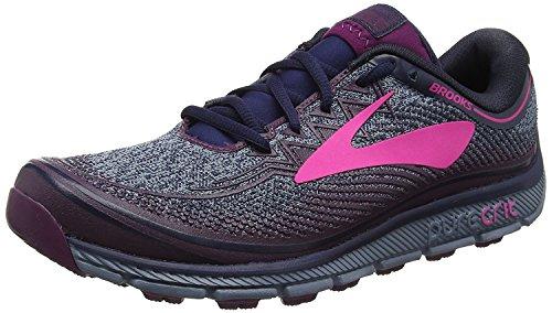 Navy 6 Chaussures PureGrit Plum Trail Pink de Brooks Femme nY5aTq5d