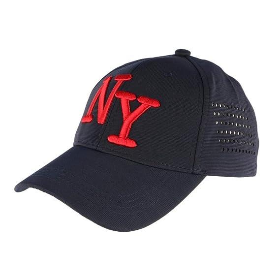profiter du meilleur prix Quantité limitée jolie et colorée Hip Hop Honour Casquette NY Bleu Marine et Rouge Design ...