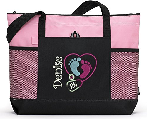 Pediatric Nurse / NICU Personalized Embroidered Tote Bag by Simply Custom Life
