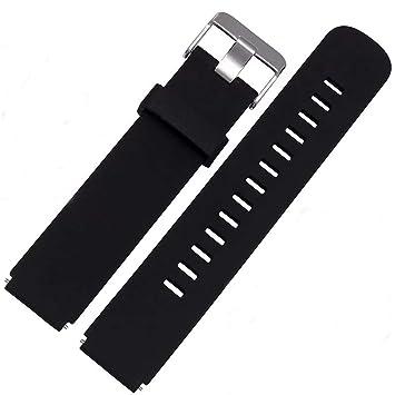 Correa Silicona, 18 20 22 mm Adallor Las de Goma Ligera Liberación Rápida Watch Bandas Caucho Suave Smart Watch de Reloj Banda de Acero Inoxidable ...